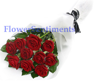 Send 10 Red Rose Bouquet to Pakistan