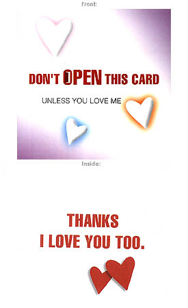 Send Don't open this card Unless... you love me :) to Pakistan
