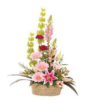 Send Flower Basket Medium on Flowers to Pakistan
