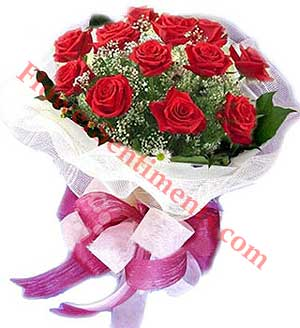 Send Flower Surprise (18 Red Roses) on Flowers to Pakistan