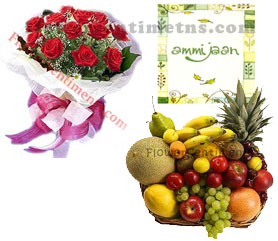 send Mothers Day Fruits and Flowers to pakistan