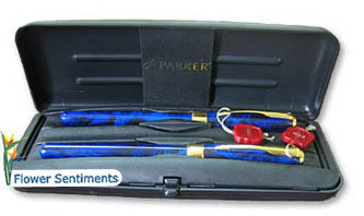 Send Parker Pen Set- Blue to Pakistan