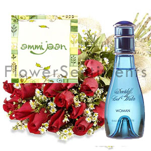 Send Perfume Flowers on Mothers Day on Mothers Day  to Pakistan