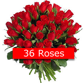 Send Rose Elegance 36 Red Roses on Flowers to Pakistan