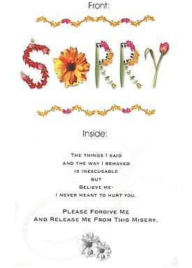 Send Sorry... on I am Sorry to Pakistan