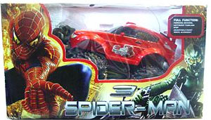 Send Spider Man 3 Remote Controlled Car on Toys 4 Kids to Pakistan
