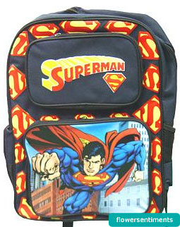 Send Super Man School Bag on Bags to Pakistan