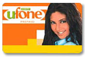 Send Ufone scratch Card - Worth 1500 RS on Mobile Prepaid Cards to Pakistan