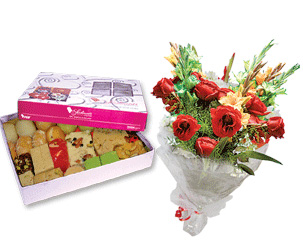 Send elegance flowers and sweets on eid to Pakistan